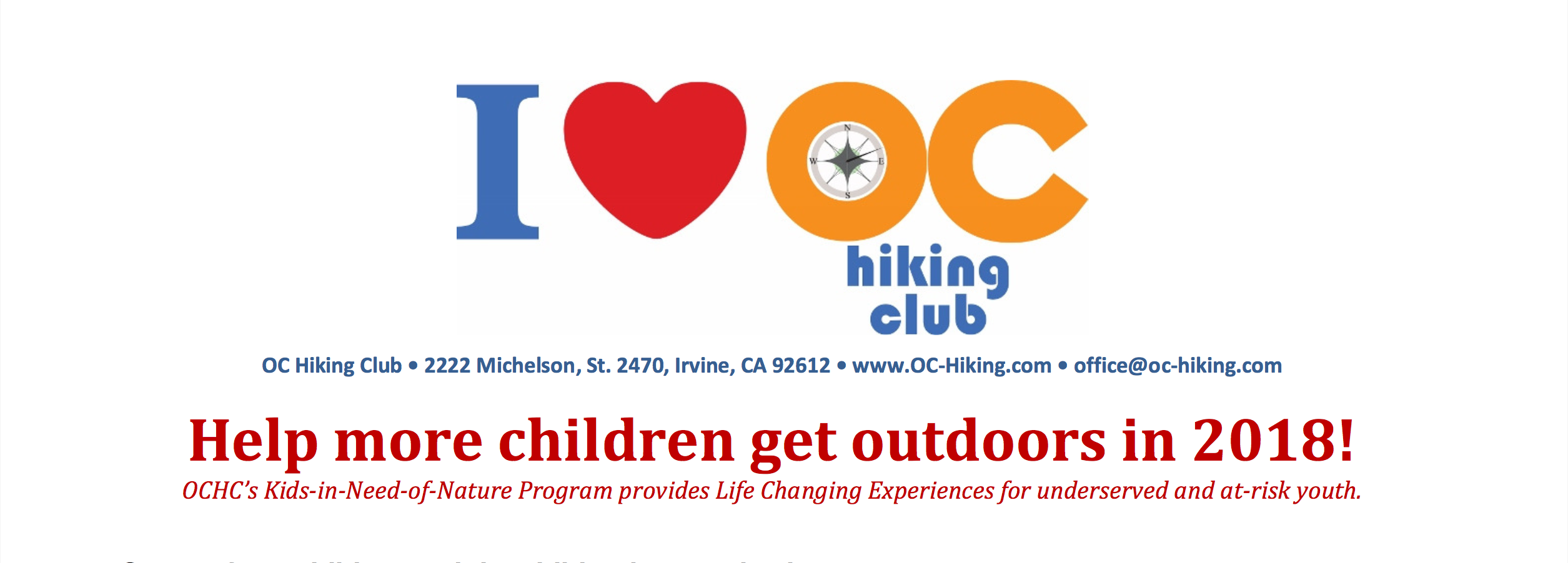 Help to Get More Children Outdoors in 2018